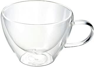 Luigi Bormioli 08879/04 Thermic 13 oz Cappuccino Double-Wall Glasses, Set of 2, Clear