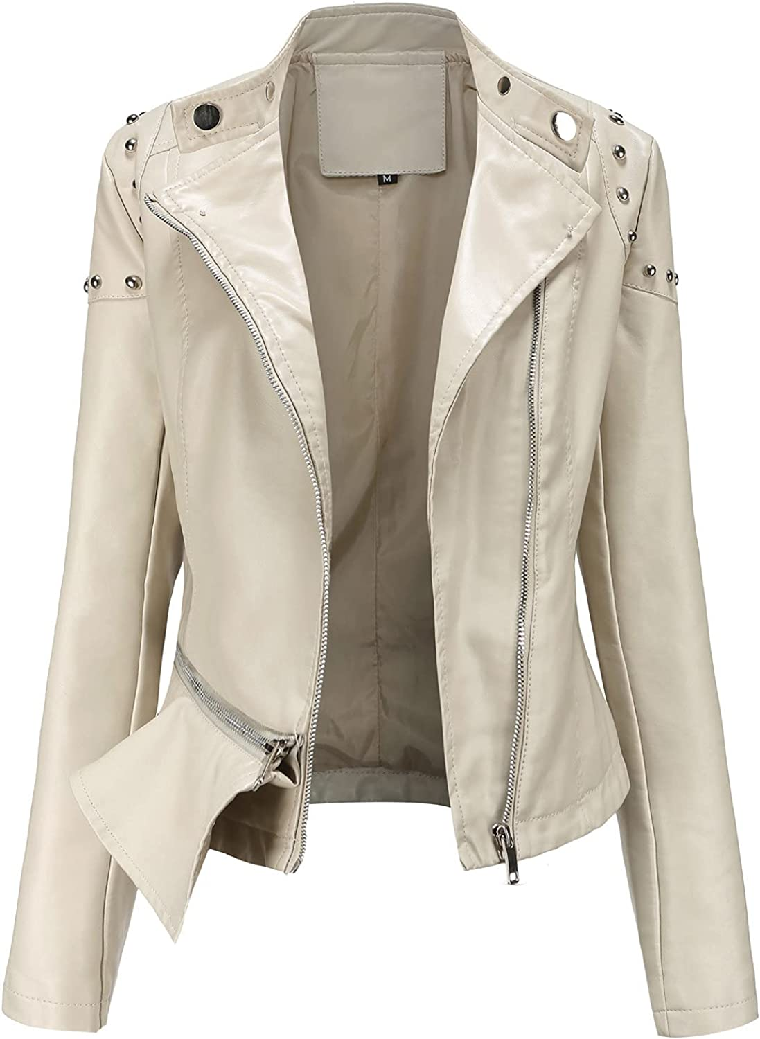 Women's Faux Leather Jacket Fashion Up Bombe Virginia Beach Mall Cropped Topics on TV Zip Regular