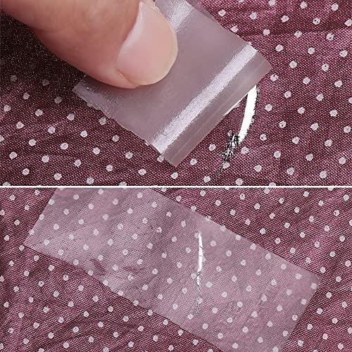PMSMT 5 Piezas Impermeable PVC Transparente al Aire Libre Tienda Chaqueta reparación Cinta Parche Autoadhesivo Nailon Adhesivo Parches de Tela Accesorios