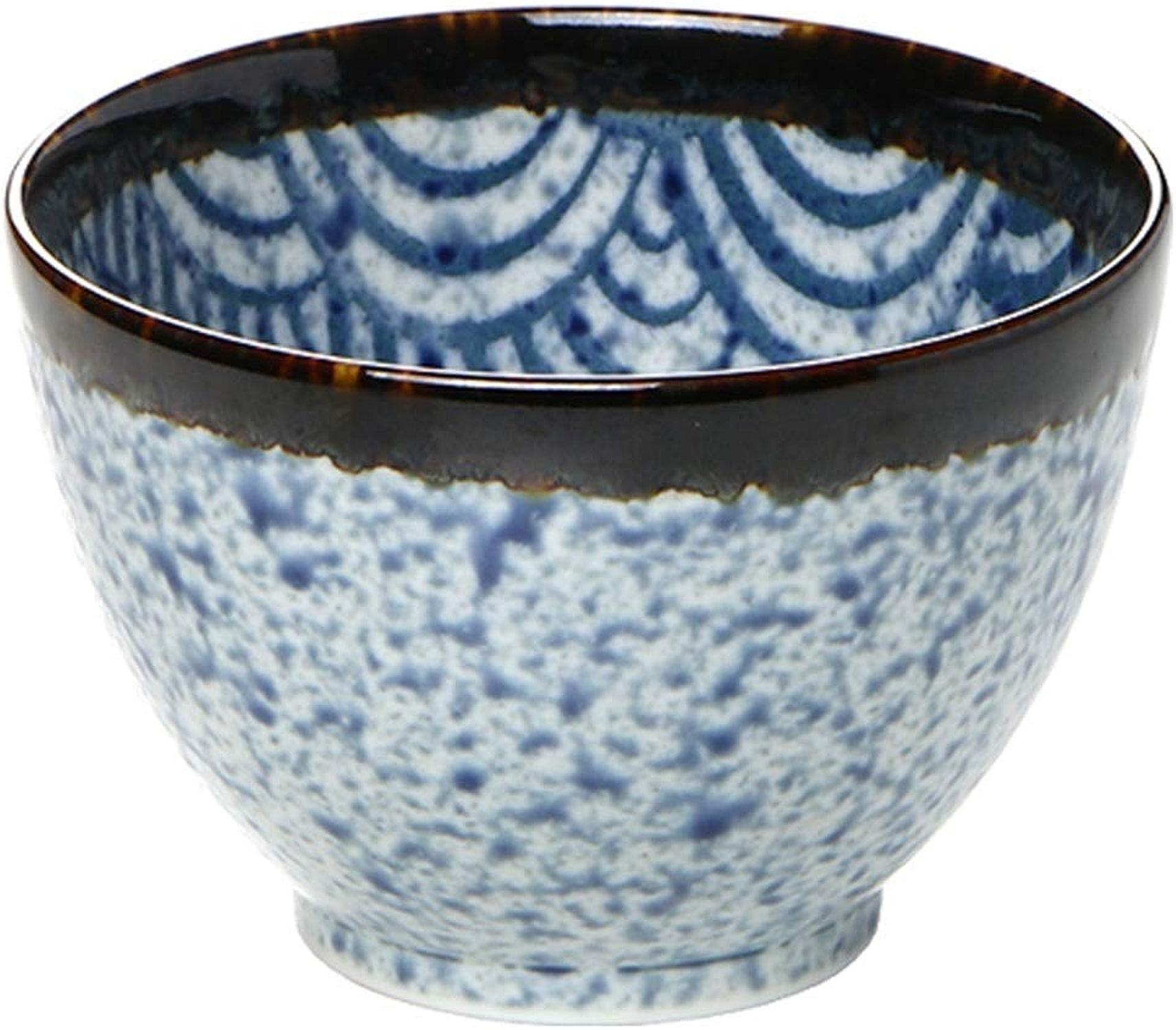 Xiao-bowl3 Bol de riz en céramique à la japonaise de style japonais en céramique peinte à la main et recouverte d'un saladier