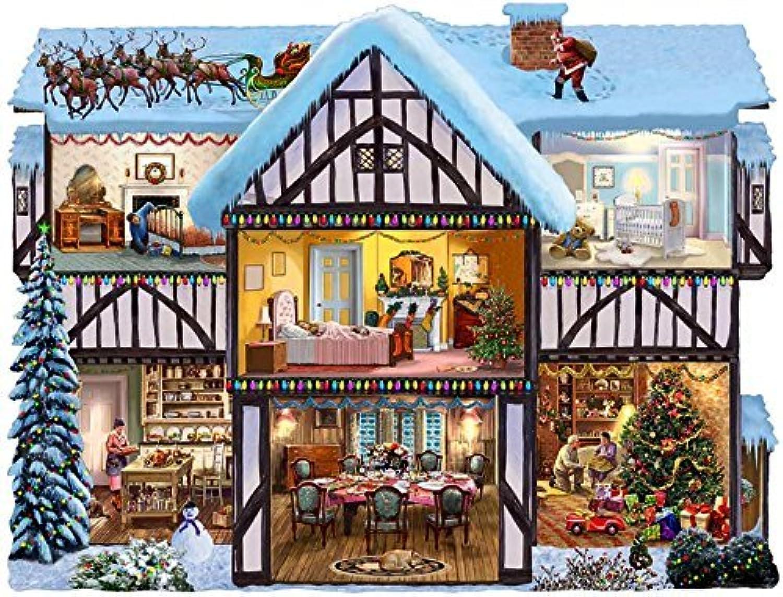 SunsOut Christmas Eve Shaped Jigsaw Puzzle (1000Piece) by SunsOut