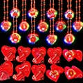 AMENON 28 Pack Kids Valentines Party Favors Light Up Necklace Filled Hearts Storage Box Valentine's Day Cards Boys Girls Classroom Exchange Gifts Game Prizes Carnival Boys Girls