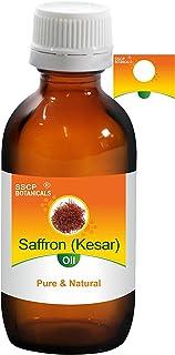 SSCP Botanicals Saffron (Kesar) Pure & Natural Carrier Oil (Crocus sativus) (1000 ml (33.80 Oz) Aluminium Bottle)