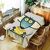 XXDD Mantel para Cachorros, Mantel con patrón de ratón de Dibujos Animados creativos, cómodo, Impermeable, Mantel para el hogar, Cubierta A7 150x210cm
