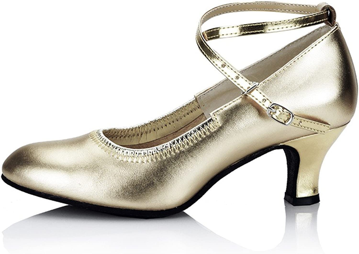 WXMDDN The golden Dancing shoes 5.5cm Soft, Latin Dance shoes Adult Seasons in Quite The Dance Dance shoes