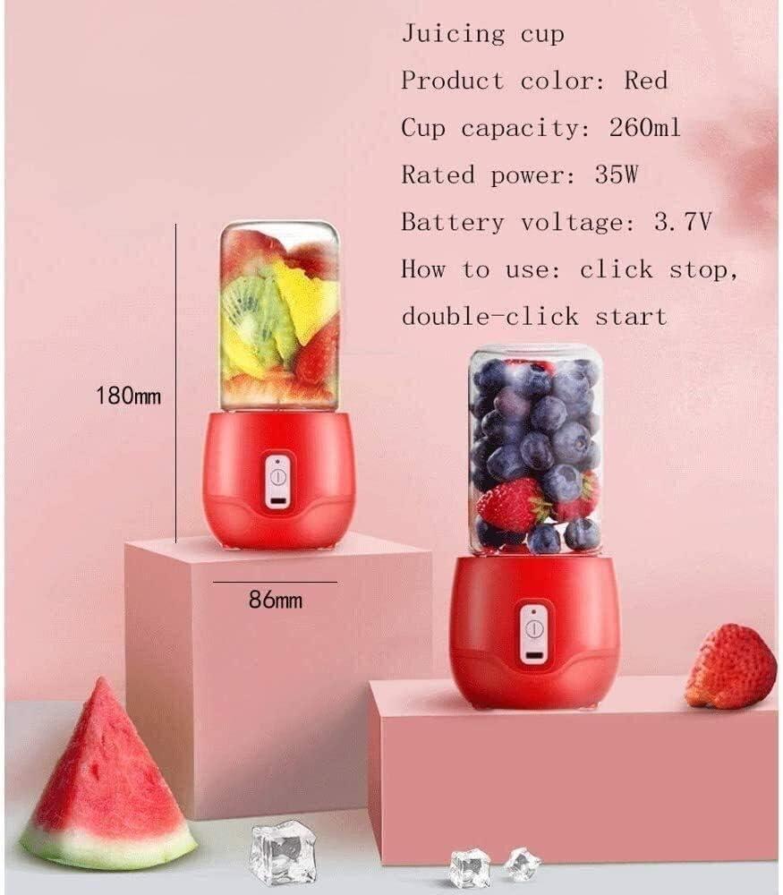 Mélangeur portable, chargeur mobile, mini mini tasse de jus électrique portatif (Couleur : -) -