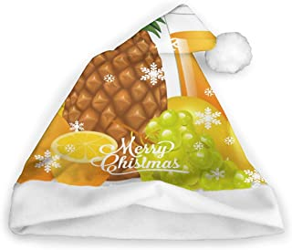 Christmas Caps Juice and Fruits Banana Pineapple Orange Grape Unisex Novelty Christmas Santa Hats Party Cap Xmas Hat
