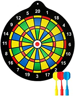 ダーツボード 子供の演劇のために理想的な6つの磁石の投げ矢が付いている男女兼用磁気ダーツボードセット11.8インチ ゲーム、ビストロ、家庭用またはオフィス用の減圧およびパーティーゲームに適しています (色 : As picture, サイズ : 30cm)