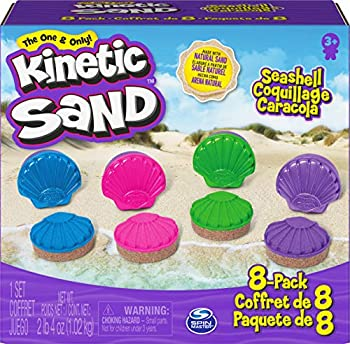 8-Pack Kinetic Sand Seashell Containers
