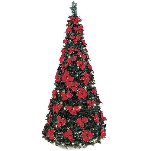 The 6' Pop-Up Poinsettia Tree - Poinsettia Tree: Amazon.com