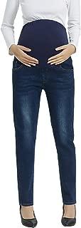 Maternity Denim Jean Lounge Shorts Full Panel Pants for...