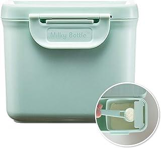 便携式奶粉 分液器 容器 旅行・户外用 牛奶瓶 (薄荷, S(150克))