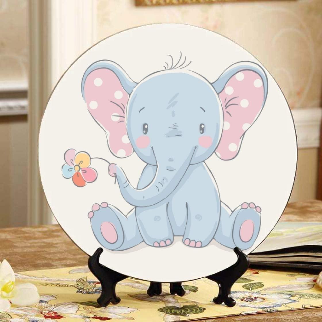 ALALAL Cute Animation Elephant Ceramic Custom Ceram Max 47% OFF Ranking TOP11 Plates Decor