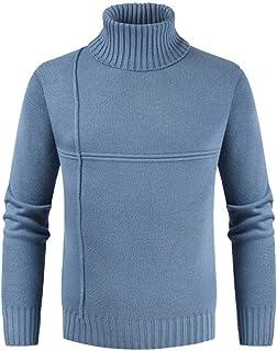 Men's Pullover Turtleneck Long Sleeve Tight Knitted Cardigans Slim Fit Sweater Knit Hot Fashion Sweatshirt Slim Fit Men's ...
