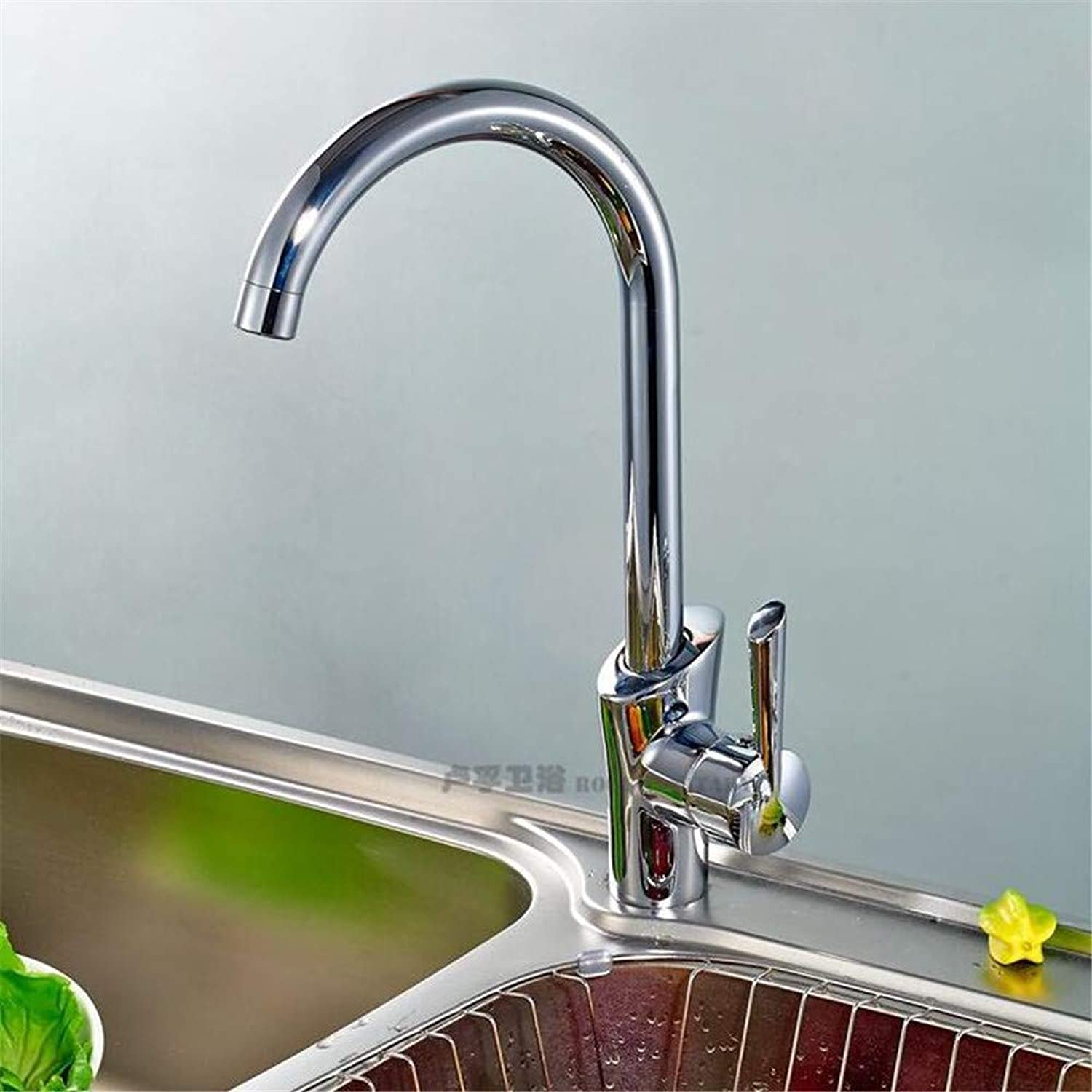 Oudan Hot and Cold Taps Single Handle Kitchen Faucet Mixing Water Whole Copper (color   -, Size   -)