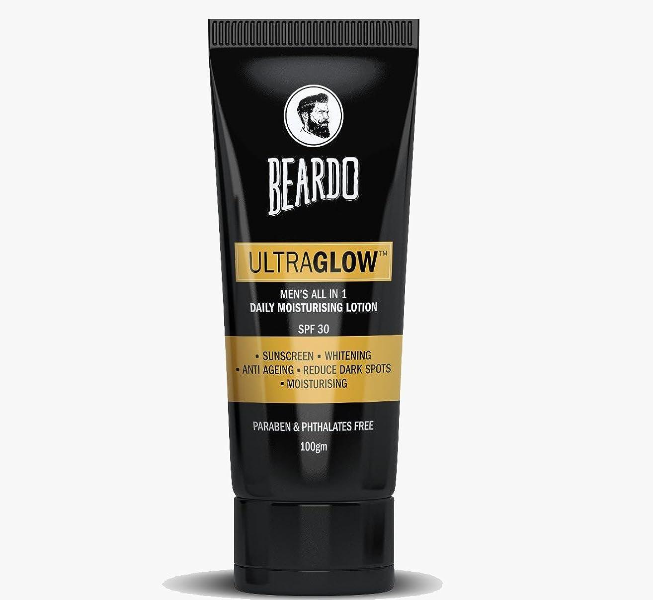 のため乏しい熱狂的なBEARDO Ultraglow Face Lotion for Men, 100g