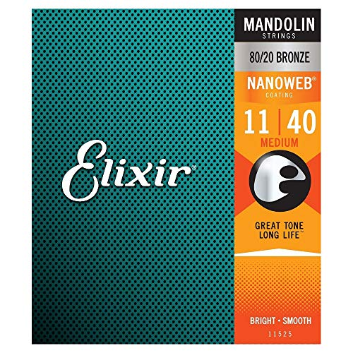Elixir 11525 Mandolin Saiten Saiten 8 Medium Acoustic Nanoweb Coating
