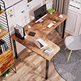 EUREKA ERGONOMIC 60 Inch Rustic Brown Corner L Shaped Computer Desk, Home Office Gaming Study Work Writing Table Long Large Sturdy Workstation Simple Modern with Black Metal Legs, Left Side