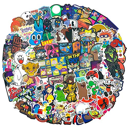 100Pcs US Anime Film Series Cute Sticker For Suitcase Laptop Scooter Guitar Car For Children Toys Scrapbooking Animation Sticker