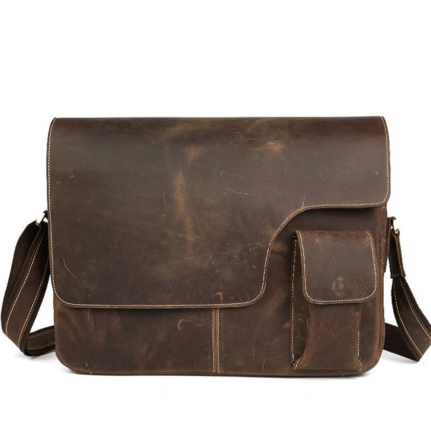 Portable Tote Bag Vintage Leather Briefcase 14