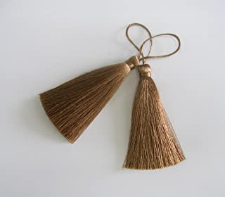 30pcs of Multi-Colors Leather Tassel Charms with Bronze Color Caps Cell Phone Straps DIY 3.5x0.7CM