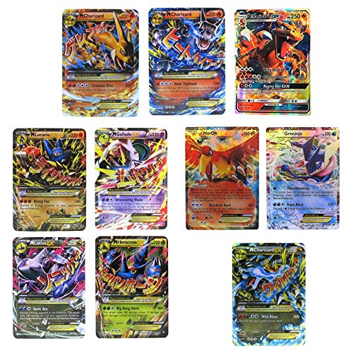 EX Mega Pack Charizard Mega EX & GX in Box Case with Lucario Gallade Latios Hercross and Ho-Oh Greninja EX Free Charizard Mega EX Plastic Card