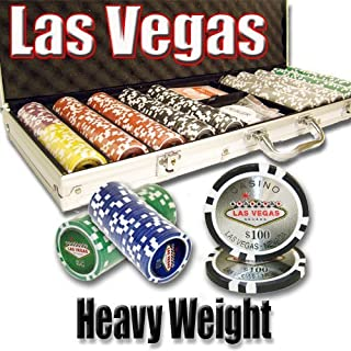500 Las Vegas Poker Chip Set 14 Gram Heavy Weighted Poker Chips