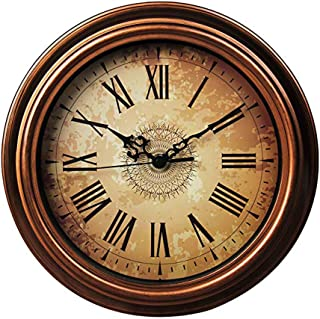 Topkey 30cm Horloge Murale Silencieuse Vintage Pendules Murales pour Le Salon Cuisine Chambre à Coucher Bureau à Domicile...