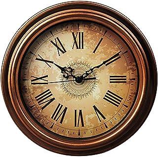 Topkey 30cm Horloge Murale Silencieuse Vintage Pendules Murales pour Le Salon Cuisine Chambre à Coucher Bureau à Domicile ...