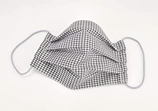 Mund- & Nasenmaske - Schwarz-Weiß kariert - Baumwollmaske