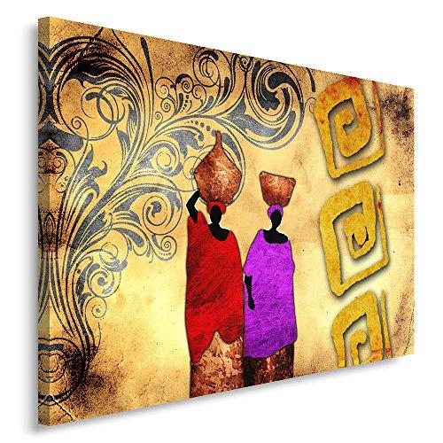 Feeby Frames, Cuadro en lienzo, Cuadro impresión, Cuadro decoración, Canvas de una pieza, 30x40 cm, ABSTRACCIÓN, MUJERES, ÁFRICA, PATRONES, COLORES