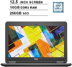 2019 Premium Dell Latitude E7250 Ultrabook 12.5 Inch Business Laptop (Intel Dual Core i7-5600U up to 3.2GHz, 16GB DDR3 RAM, 256GB SSD, Intel HD 5500, WiFi, HDMI, Windows 10 Pro) (Renewed)