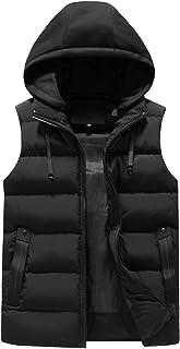 Heren bovenkleding Gilets, Slim Fit, mouwloos vest, zwart outdoor vest, winter bodywarmer donsjack met capuchon