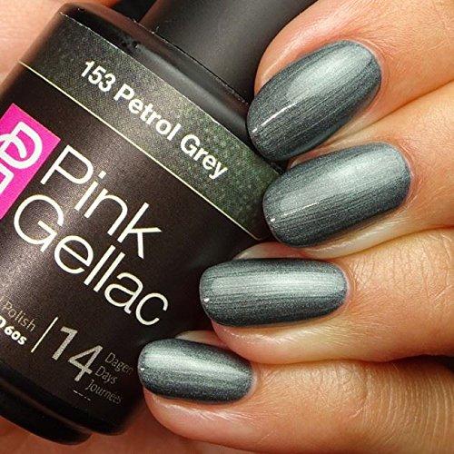 Pink Gellac 153 Petrol Grey UV Nagellack. Professionelle Gel Nagellack shellac für mindestens 14 Tage perfekt glänzende Nägel