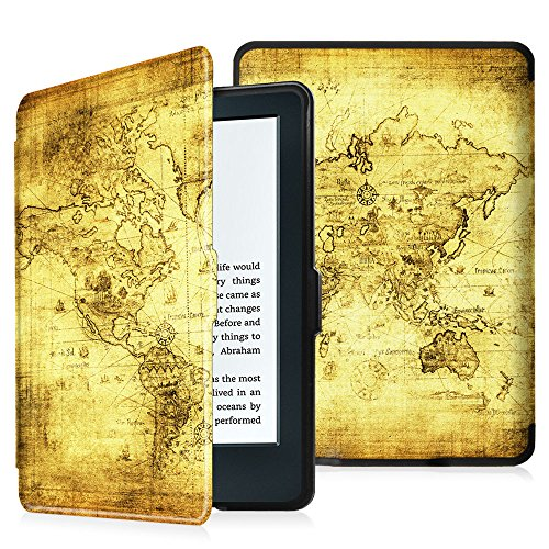 "Fintie E-reader Kindle Cover - Custodia Ultra Sottile Leggero con Sonno Auto / Sveglia la Funzione per Amazon E-reader Kindle, schermo touch da 6"" anti riflesso (8ª Gen - modello 2016), Ancient Map"