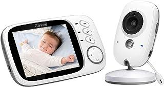 Vigilabebés Inalambrico Govee Baby Monitor Inteligente con LCD 3.2in y Cámara con Visión Nocturna Intercomunicador de Visión Babyphone Video LCD Monitoreo de Temperatura para Niños y Padres