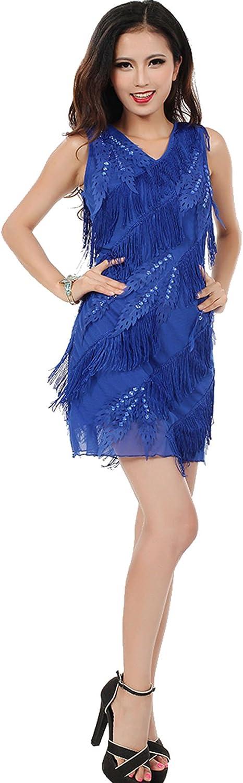 Astage Women`s Carnival Embellished Fringed Flapper Dress