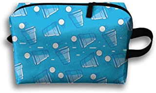Travel Bags Beer Pong Pattern Portable Storage Bag Clutch Wallets Cosmetic Bags Organizer Zipper Hangbag Carry Case