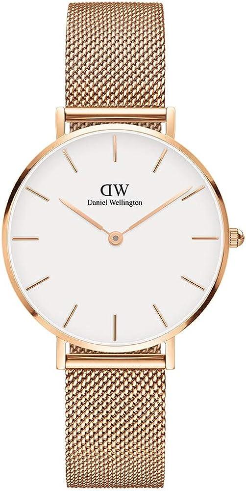 daniel wellington petite melrose orologio donna in acciaio inossidabile dw00100163