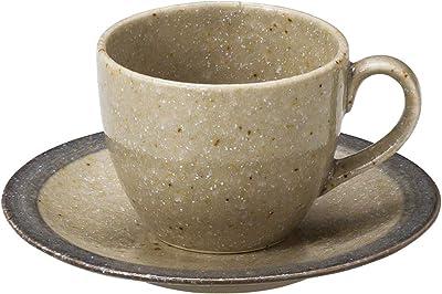 山下工芸 カップ_ソーサー 磁器 φ8.7×6.8cm(250cc) 梨地グレーコーヒー碗と受皿 15051380