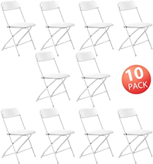 Kealive Folding Chair 10 Pack Fold Chair 330 lbs Weight Capacity for Events, Premium Lifetime Fold Up Chair Portable 18'' L x 18'' W x 31'' H, White
