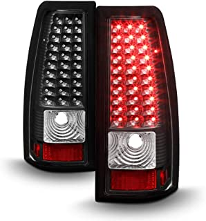 ACANII - For Black 1999-2002 Silverado 99-03 Sierra LED Tail Lights Brake Lamps Left+Right