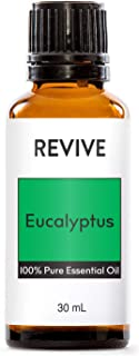 REVIVE Essential Oils Set For Diffuser, Humidifier, Massage, Aromatherapy, Skin & Hair Care - Eucalyptus - 30 mL / 1 Ounce