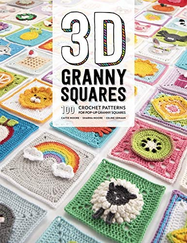 3D Granny Squares 100 crochet patterns for pop up granny squares product image
