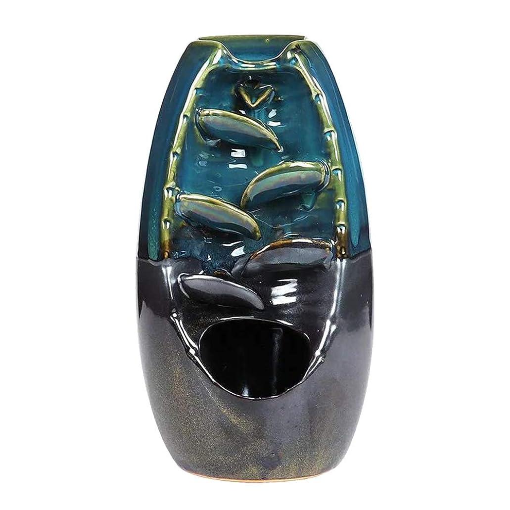 表面的な誤解する世界に死んだVosarea 逆流香バーナー滝香ホルダーアロマ飾り仏教用品(青)