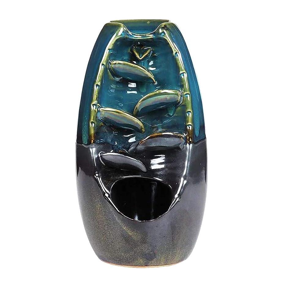 出身地補償イデオロギーVosarea 逆流香バーナー滝香ホルダーアロマ飾り仏教用品(青)