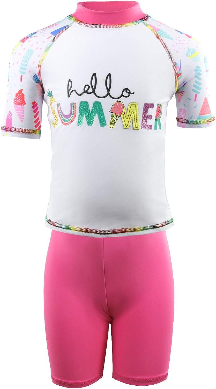 Julysand Toddler San Diego Mall Girls Rash Guard Sh Classic Sets Swimsuit Summer Letter