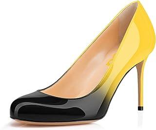 Women Formal High Heel Pumps Close Toe Slip On Business...