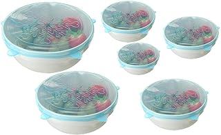xingxing Rangement et organisation - Lot de 6 couvercles colorés en silicone extensible et réutilisables - Couleur : rose ...