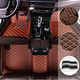 saitake Car Floor Mats for Mercedes Benz GL Class 7-seat 2013-2016 Full Coverage Liner All Weather Front and Rear Floor Mats Waterpoof Non-Slip PU Leather Pad Left Drive Brown